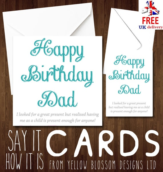 Funny Happy Birthday Dad Son Daughter Child I Looked For A Etsy