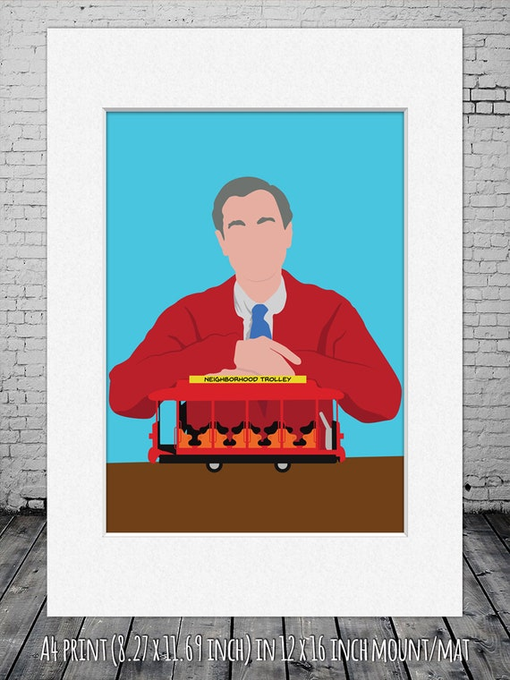 Mister Rogers Neighborhood Minimalist Poster Mister Etsy