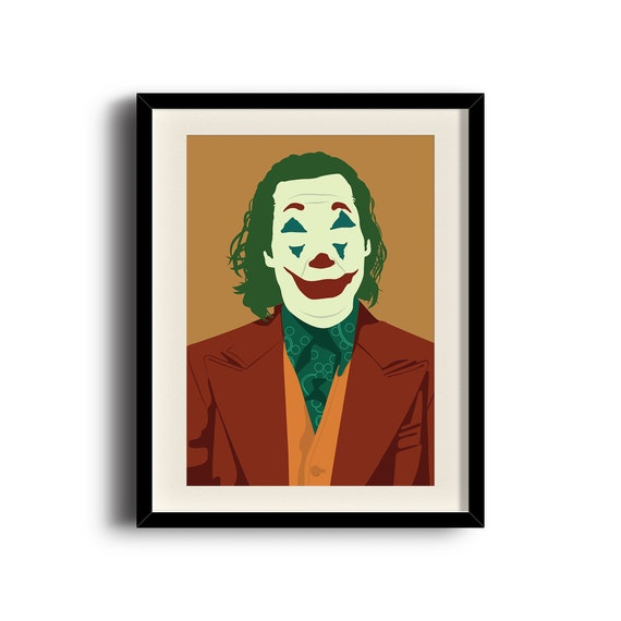 Joaquin Phoenix Joker Minimalist Poster Joaquin Phoenix Joker Digital Art Poster Framed Print Matted Print Mounted Print