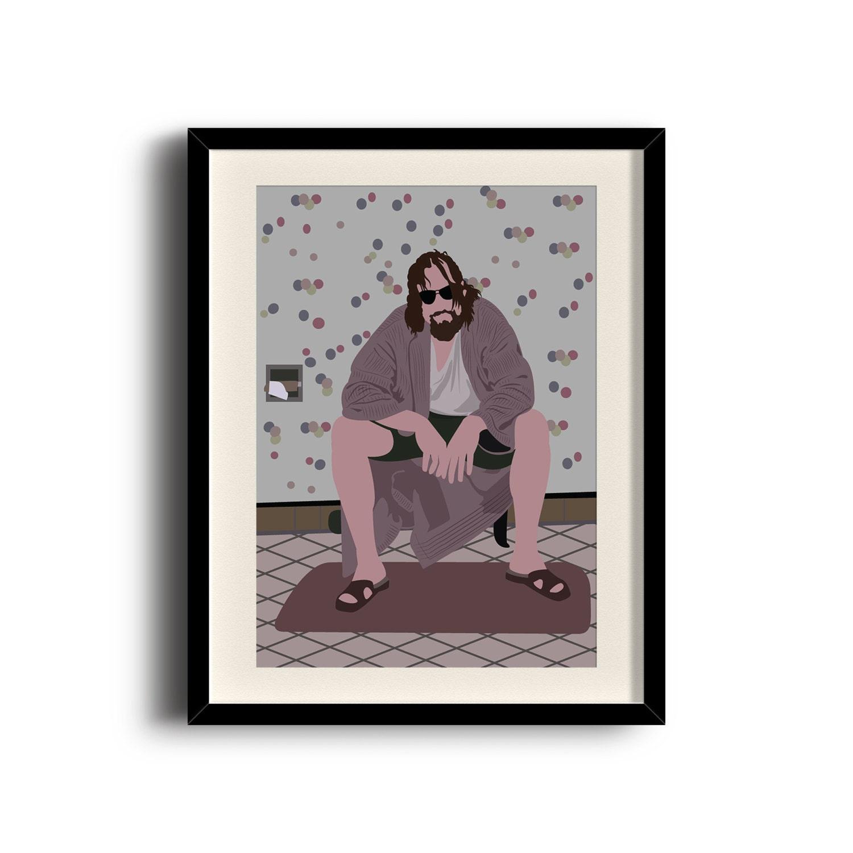 Umrahmt von großen Lebowski Dude minimalistische Poster Big