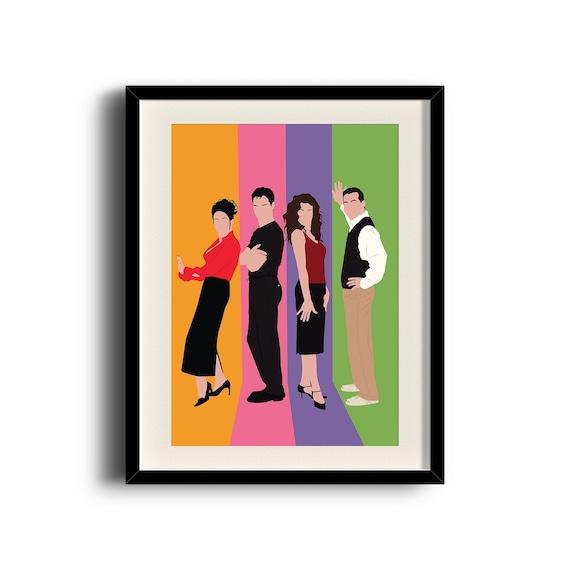 Will /& Grace  Minimalist TV Poster  Unique Art Print