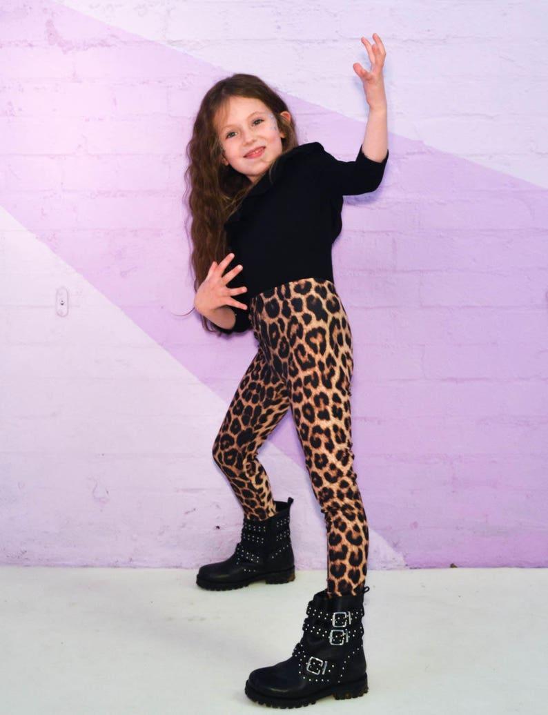 f48907225335f Leopard Print Unisex Kids Leggings Animal Print Kids | Etsy