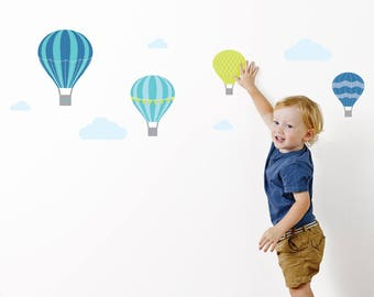 Hot Air Balloon Wall Stickers | Wall Decals | Nursery & Kids decor