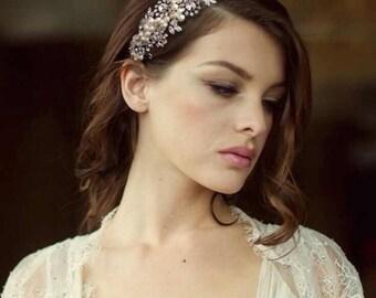 Crystal & Pearl Wedding Side Tiara