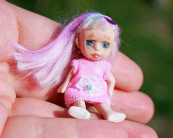 "Mini Doll ""Shorties"" , Doll for a doll, 2in, resin, bjd, mini dolls"