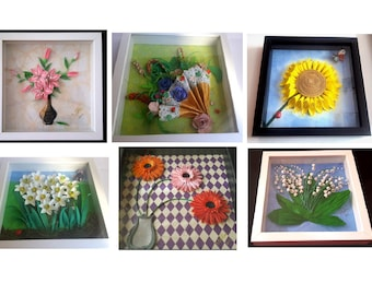 Quilling Framework/Paper Art on commission 25 x 25 cm