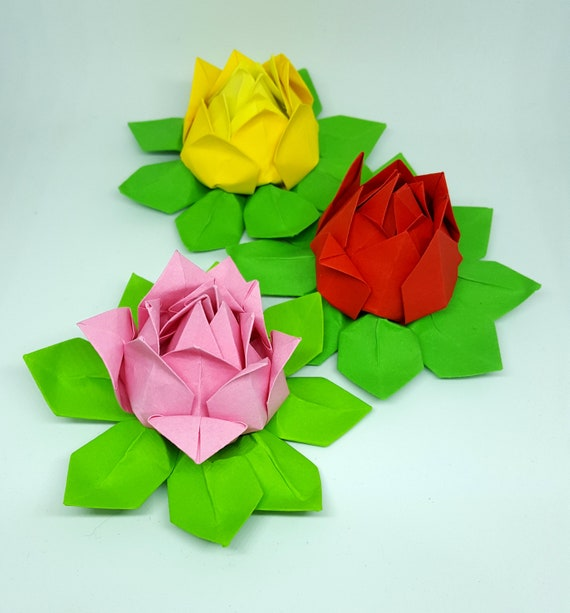 Modular Origami Lotus Flower | 613x570