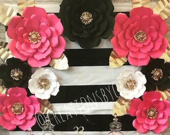 005f2b8b2f 9 Piece Kate Spade Inspired Paper Flowers Set