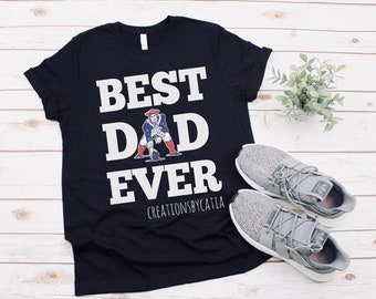 d3904f435 Best Dad Sports T-shirt | Father's Day Gift | Patriots T-Shirt | Sports Fan  T-shirt | Dad life
