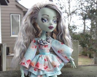 Ooak Monster High Frankie Stein Doll