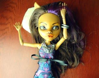 Ooak Monster High Clawdeen Wolf Doll