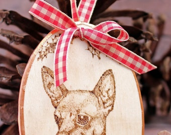 Chihuahua Christmas Ornament, Gift or Gift Topper