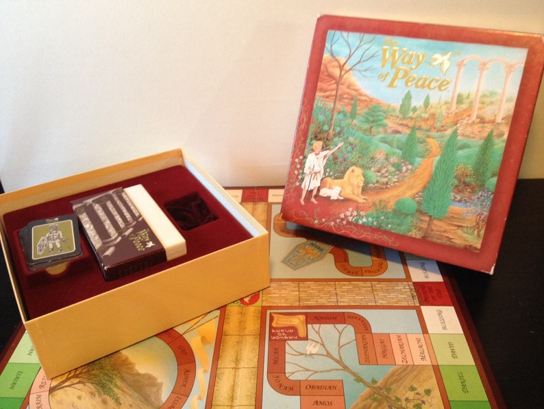 The Way of Peace, 1992 - Early 1990s Biblical Trivia Board Game - Complete
