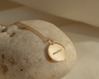The Mama Disc Necklace - Mother's Day Gift - Mama Necklace - Gift for Mom - Baby Shower Gift - Expecting Mom Gift // Ready-to-ship