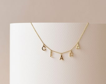 Dangle Letter Necklace - Initials Necklace - Personalized Necklace - Mother's Day Gift - Name Necklace - Personalized Gift - #LTTRDF149