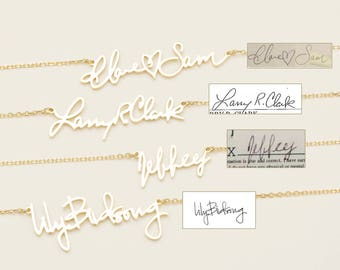 Actual HandwritingNecklace in - Personalized Signature Necklace - Meaningful Personalized Necklace  - Bridesmaid Jewelry #PN02