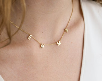 Custom Letter Necklace - Vote Necklace  - Personalized Name Necklace - Custom Initials Necklace - Custom Name Necklace - #LTTRF149