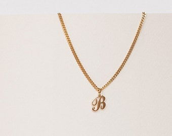 Custom Initial Necklace - Script Initial Charm Necklace - Personalized Necklace - Personalized Gift - Mother's Day Gift // Ready-to-ship