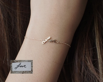 Actual Handwriting Bracelet - Personalized Memorial Signature Bracelet - Handwriting Wedding Jewelry - Mother's Gift LA03