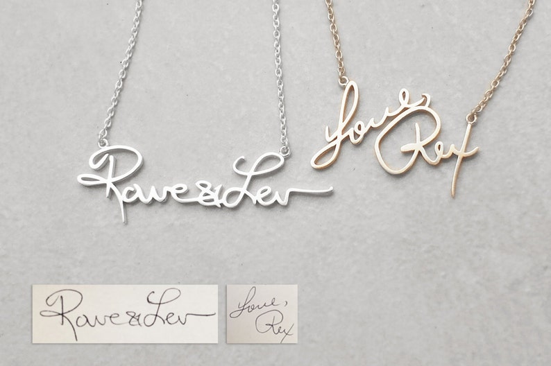 Actual Handwriting Necklace  Meaningful Personalized image 0