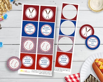 Printable Baseball Birthday Cupcake Toppers Party Favor Gift Tags By SUNSHINETULIPDESIGN