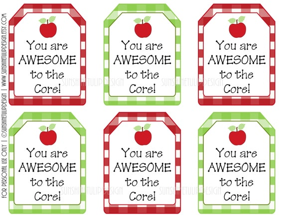 photograph about Teacher Appreciation Tags Printable called Your self are Incredible in the direction of the Main Present Tags, Printable Trainer