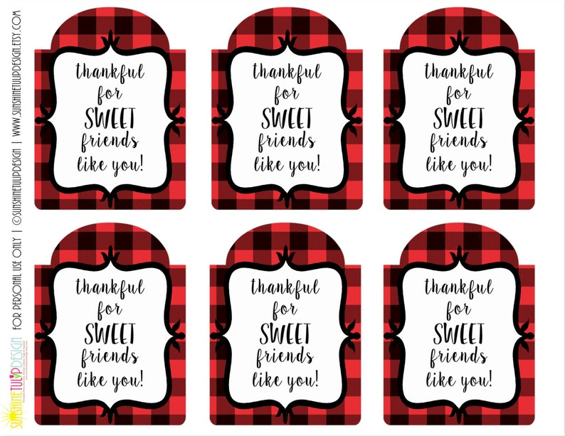 picture relating to Large Gift Tags Printable referred to as Printable Grateful for Cute Close friends Reward Tags, Printable Reward Tags, Xmas Reward Tags by means of SUNSHINETULIPDESIGN