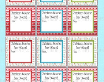 Printable Christmas Baked Goods Labels by SUNSHINETULIPDESIGN