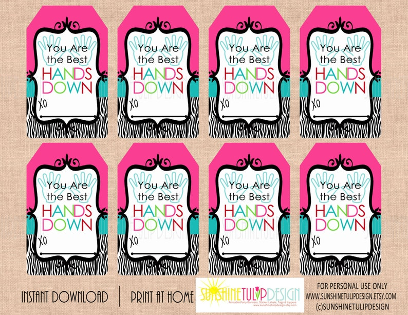picture about Hands Down You're the Best Printable referred to as Printable By yourself are the Most straightforward Fingers DOWN Reward Tags, Printable Instructor Appreciation Reward Tags, Printable Friendship tags through SUNSHINETULIPDESIGN