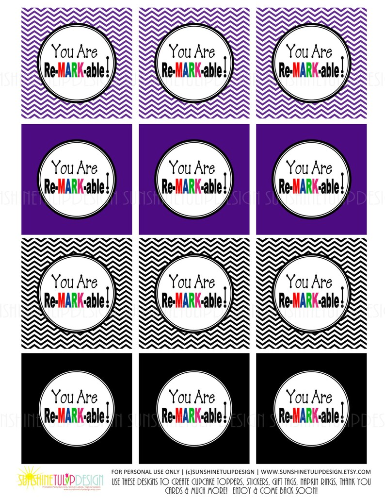 graphic about Printable Teacher Gift Tags referred to as Printable Trainer Appreciation Reward Tags Stickers Labels and Cupcake Topper Do-it-yourself via SUNSHINETULIPDESIGN