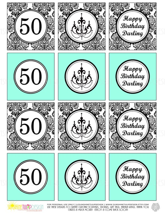 Printable 50th Birthday Happy Darling