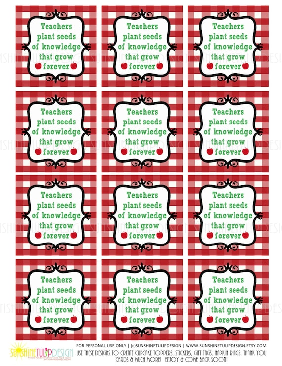 Unforgettable image inside free printable teacher appreciation gift tags