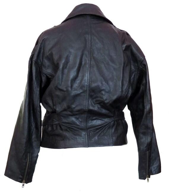 The Limited Motorcycle Moto Jacket Black Leather … - image 2
