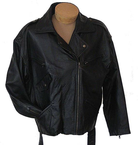 The Limited Motorcycle Moto Jacket Black Leather B