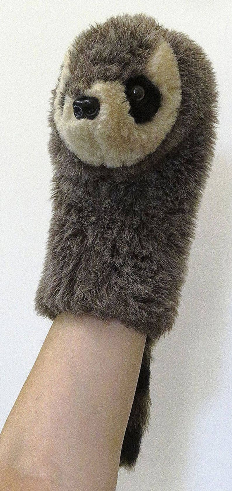 Raccoon Hand Puppet 1980 Toys by Daphne