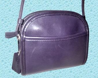 515c2097e Vintage Coach Purple Leather Abbie Demi Shoulder Cross Body Bag 9017.Rare.