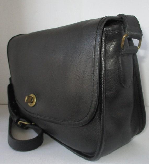 Coach Vintage Bonnie Cashin Black Classic Flap Pu… - image 4