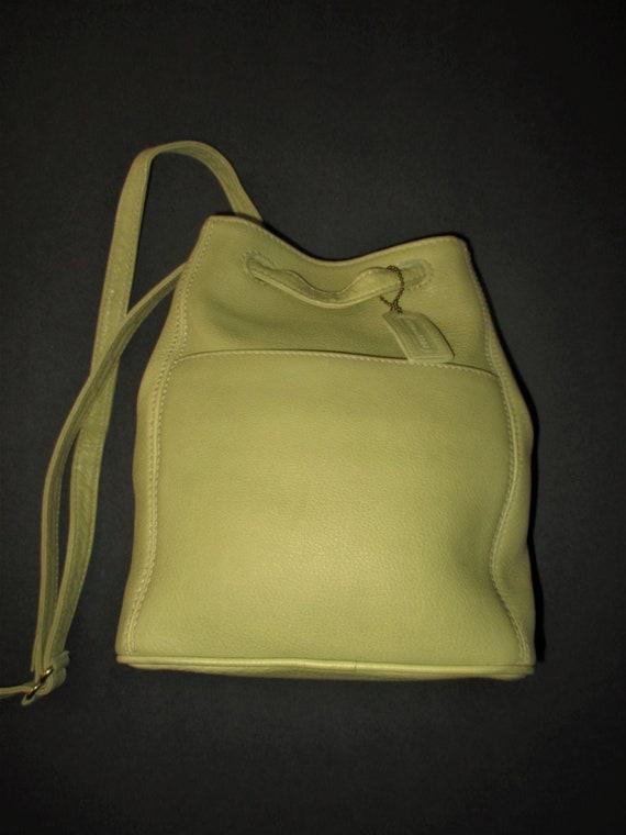 Vintage Coach Sonoma Lemon/Lime Green Leather Shou