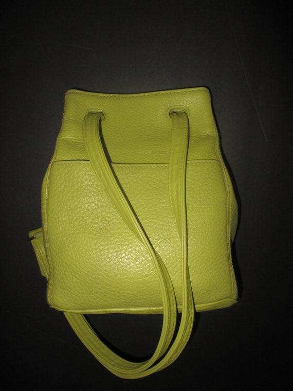 Vintage Coach Sonoma Lime Green Leather Shoulder B