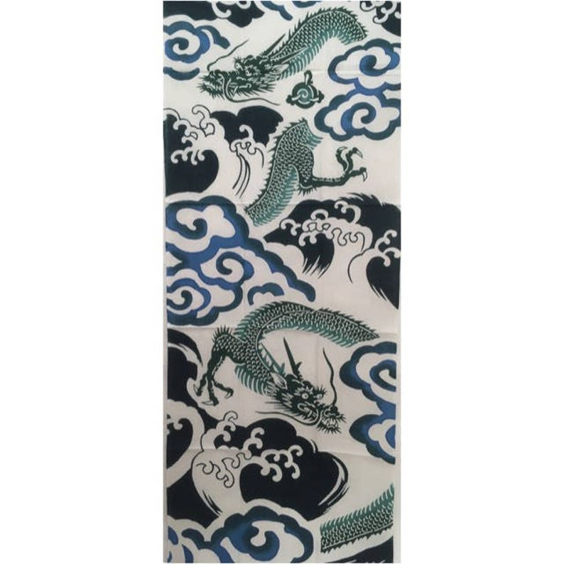tapestry Free shipping, art wrapping cloth Tenugui cotton fabric Japanese fabric blue dragon fabric