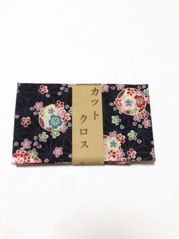 Tissu de coton japonais, tissu à motif tradhitional japonais, tissu fleuri, tissu bricolage, patchwork, livraison gratuite, 50 cm x 54 cm