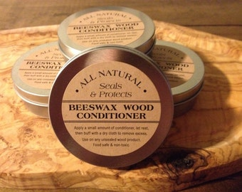 All Natural Mineral Oil Beeswax Wood Conditioner