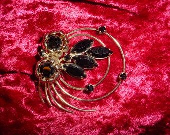 Unusual Gold And Black Brooch