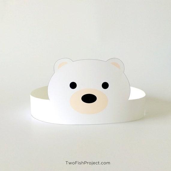 Cute Watercolour Polar Bear Childrens Party Banner