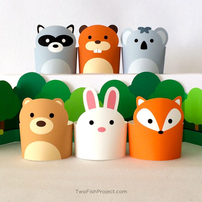Paper Craft Animals Pretend Play Toys For Kids Diy Forest Etsy