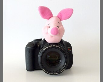 Photography Gifts, Photographer Gift, Gift for New Mom, Photo Props for Kids/Children Photography, Camera Lens Buddy Animal, Pink Pig Piglet