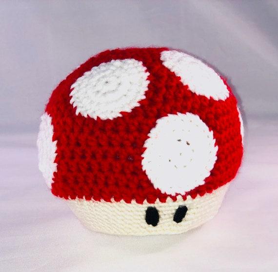 Mario Mushroom Hat Crocheted