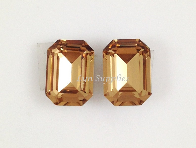 8cf9295f36acf4 4610 LIGHT COLORADO TOPAZ 14x10mm Swarovski Crystal Octagon