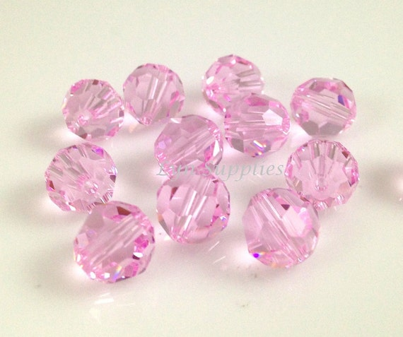 6Pcs Faceted Round Flat Glass Crystal Spacer Beads Charms Violet 16mm