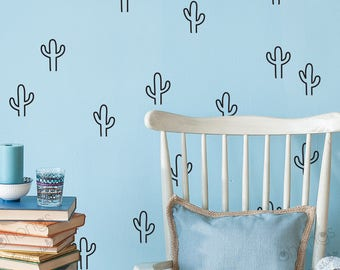 Cactus Wall Decal / Cactus Wall Sticker/ Interior Decal / Geometric Wall Decal / Kids Room Decor